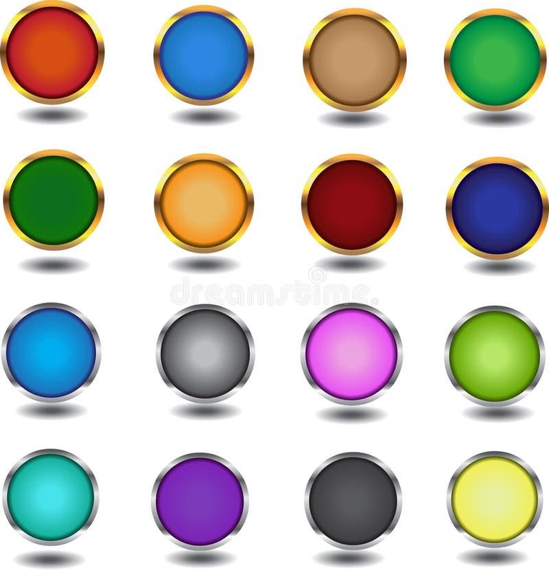 Web 16 multicolore des éléments illustration stock