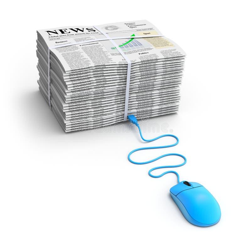 Web-Nachrichtenkonzept lizenzfreie abbildung