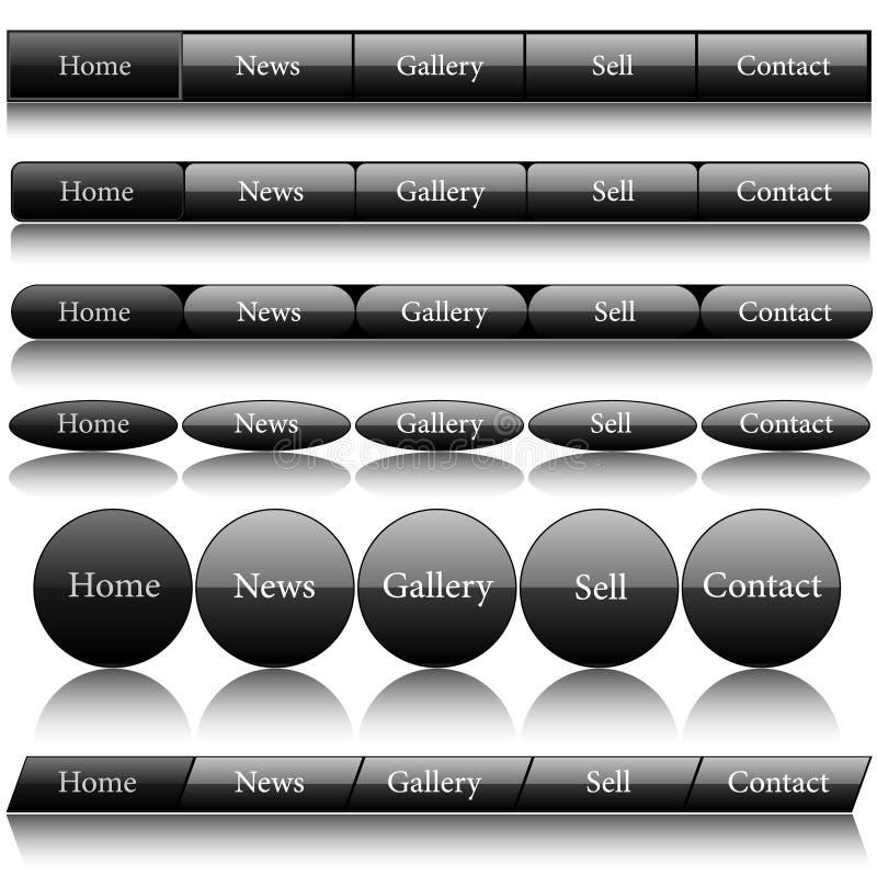Web navigation. Set of web navigation and buttons royalty free illustration
