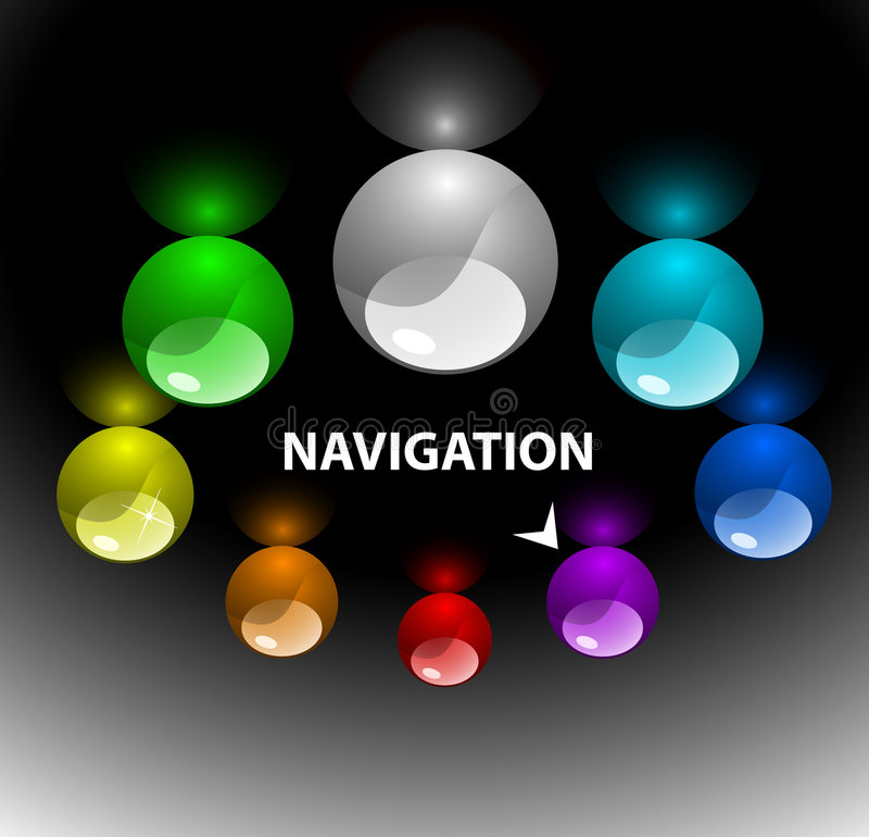 Web navigation template 3 (on top) vector illustration