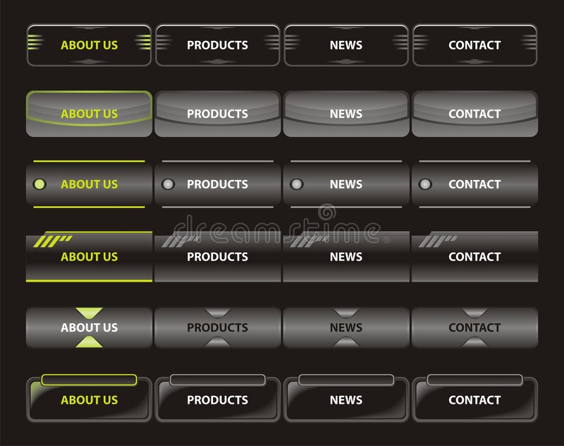 Web navigation templates. Various vector illustration of website menu vector illustration