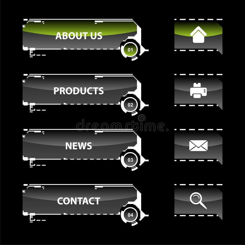 Web navigation templates. Web navigation vector illustration of modern website menu royalty free illustration