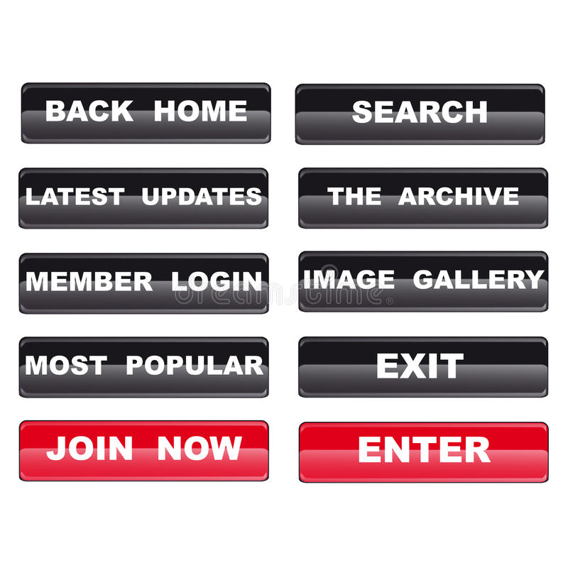 Download Web Navigation Templates For Media Content Site Stock Vector - Image: 13450401