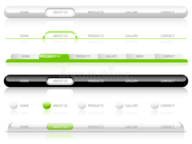 Web-Navigations-Schablonen lizenzfreie abbildung