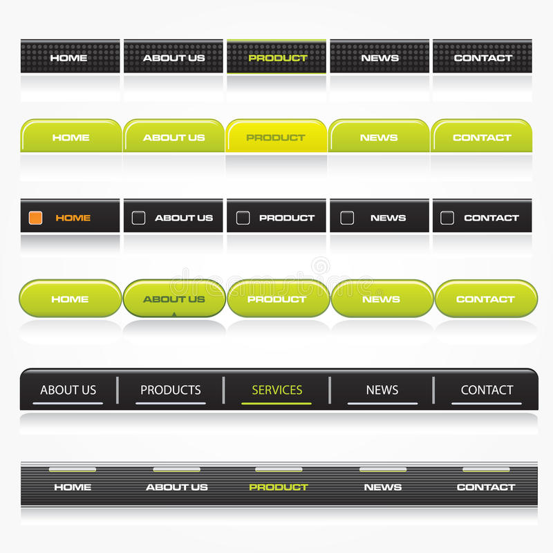 Web-Navigationsschablonen lizenzfreie abbildung