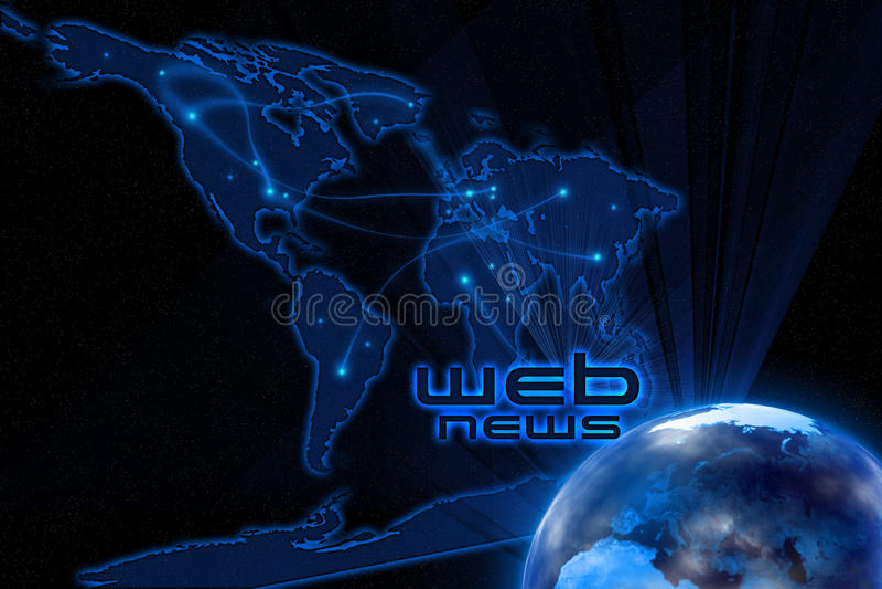 Web News stock illustration