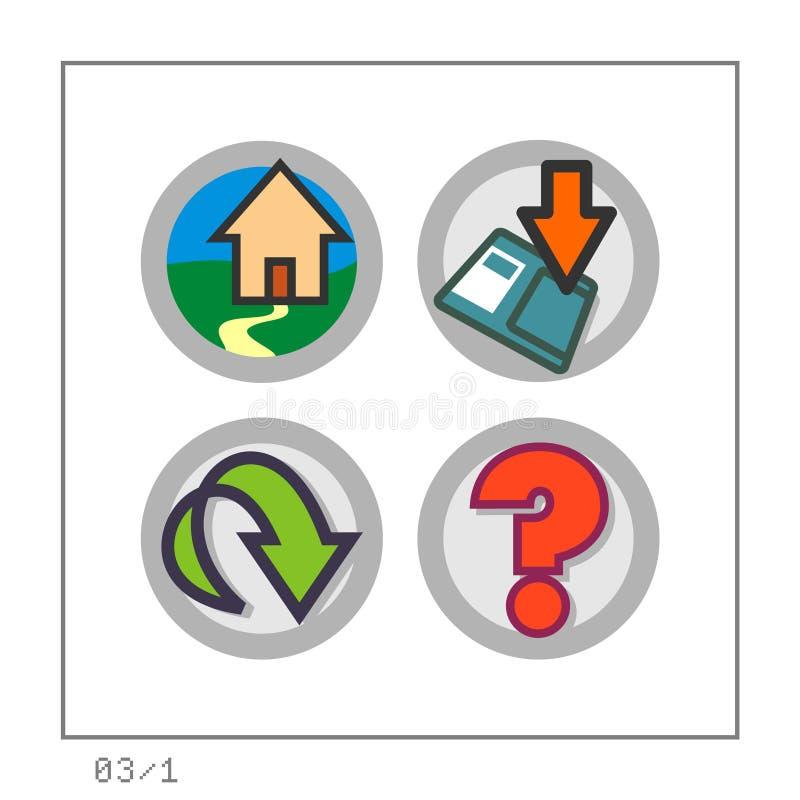 WEB: O ícone ajustou 03 - a versão 1 ilustração do vetor
