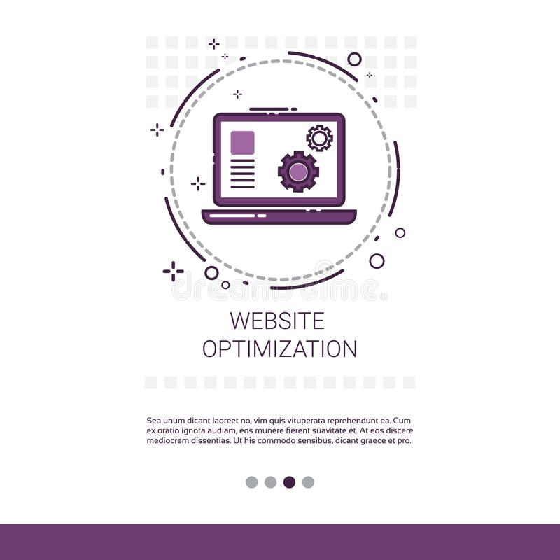 Web Optimization Software Development Computer Programming Device Technology Banner With Copy Space. Vector Illustration vector illustration