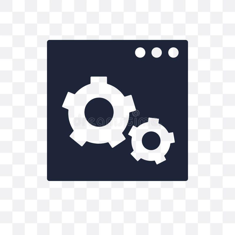Web optimization transparent icon. Web optimization symbol design from SEO collection. Simple element vector illustration on transparent background vector illustration