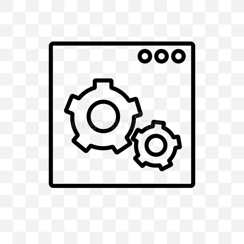 Web optimization vector linear icon isolated on transparent background, Web optimization transparency concept can be used for web. And mobile royalty free illustration
