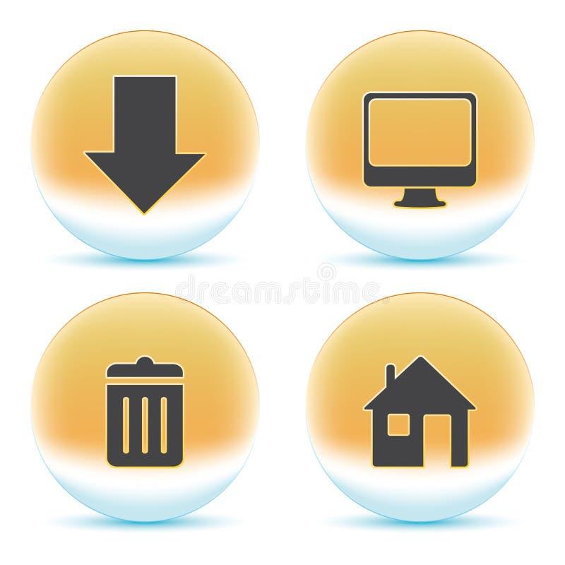 Web Orange Icons Royalty Free Stock Image