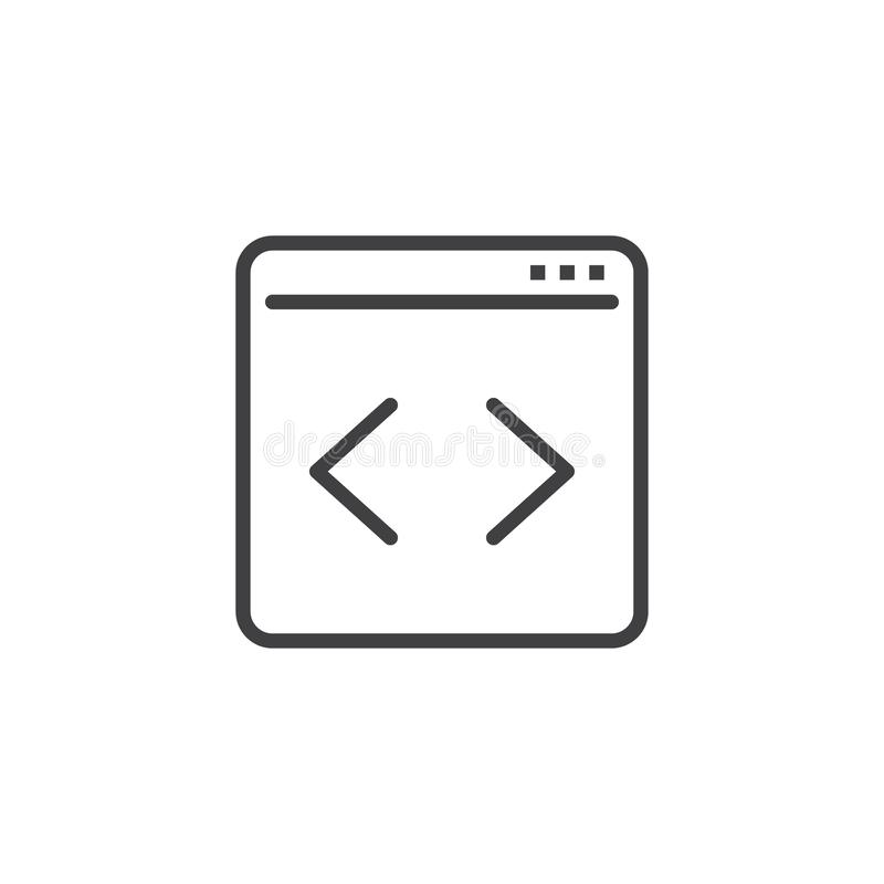 Web page Coding line icon royalty free illustration