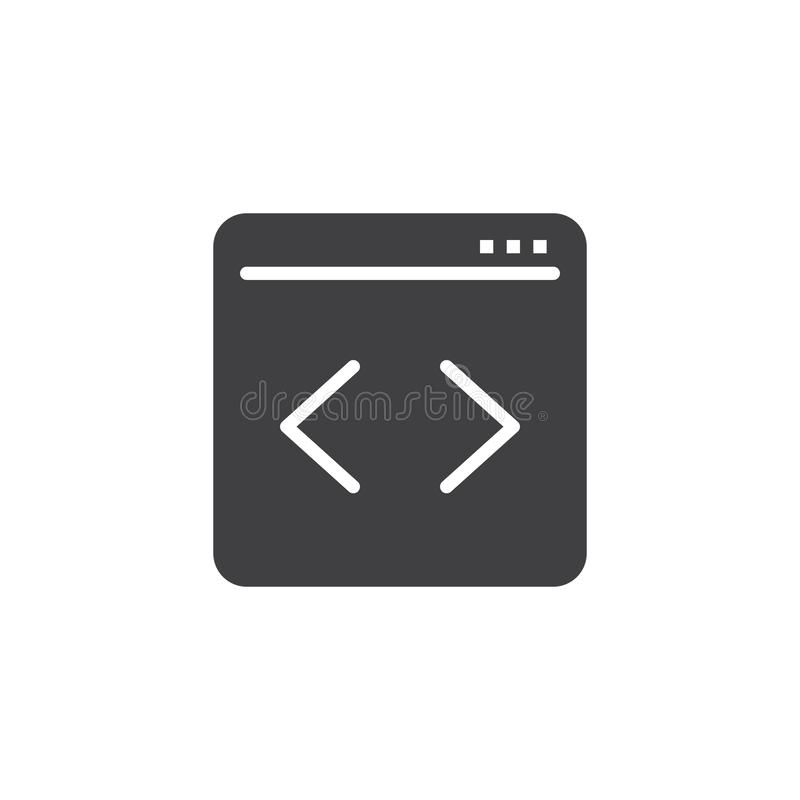 Web page Coding vector icon royalty free illustration