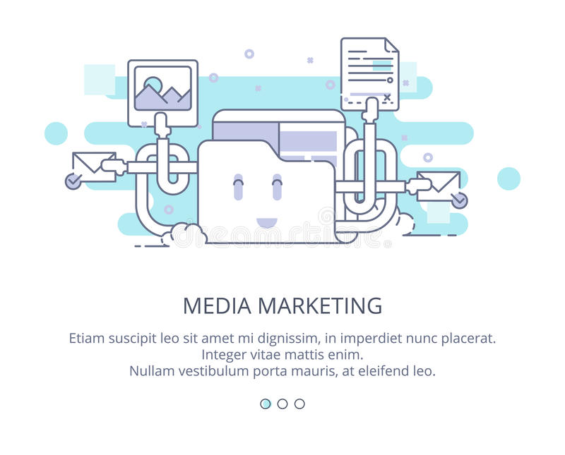 Web Page Design Template of Cloud Computing and Storage. Data Storage, Cloud Computing, Web Sites Hosting, Media stock images