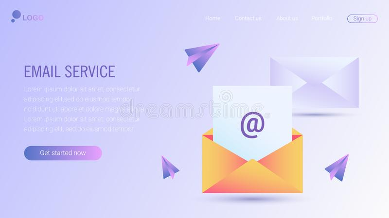 Web page design template. EPS 10 royalty free illustration