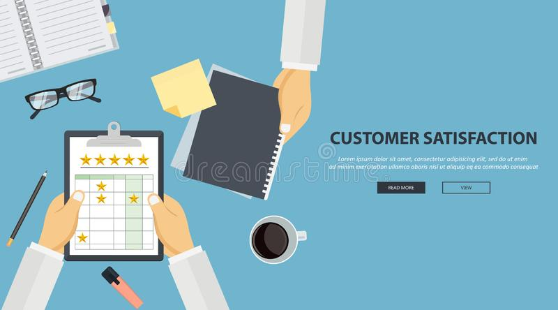 Web page design template for feedback, testimonials messages and notifications. Modern vector illustration concepts for. Website and mobile website development royalty free illustration