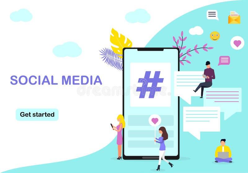 Web page design template for social media vector illustration