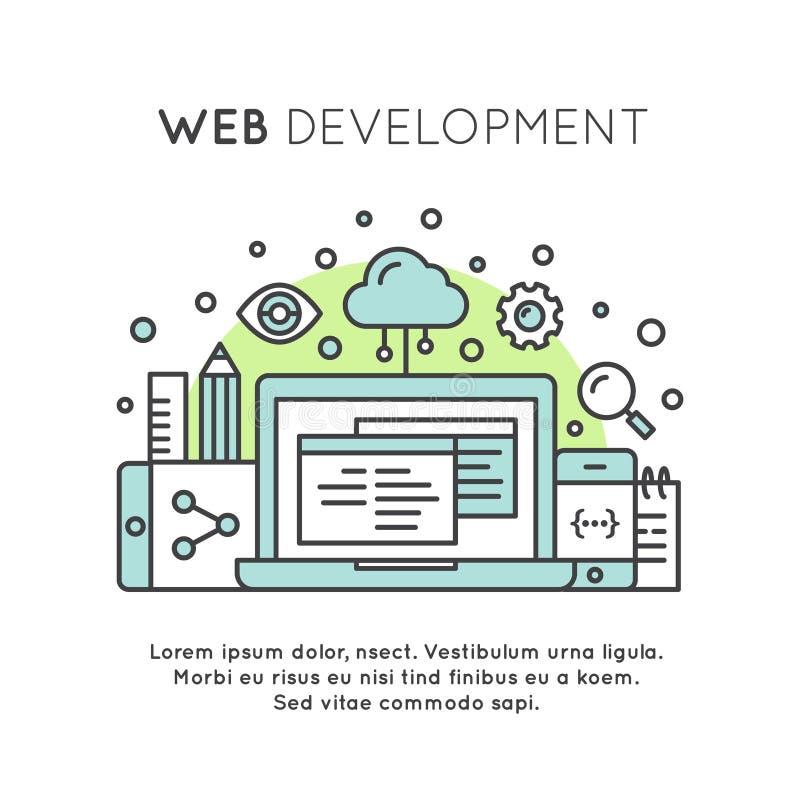 Web Page Development Process royalty free illustration
