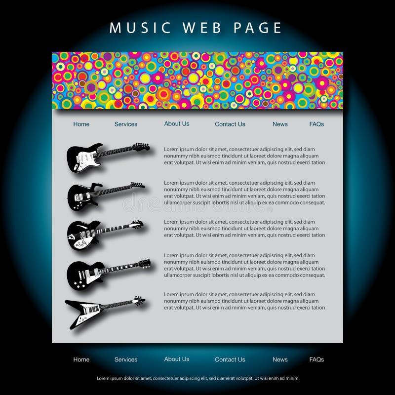 Web page di tema di musica royalty illustrazione gratis