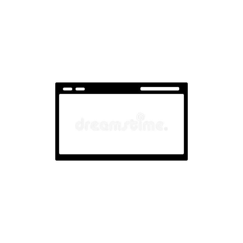 Web page icon. Internet window symbol vector illustration