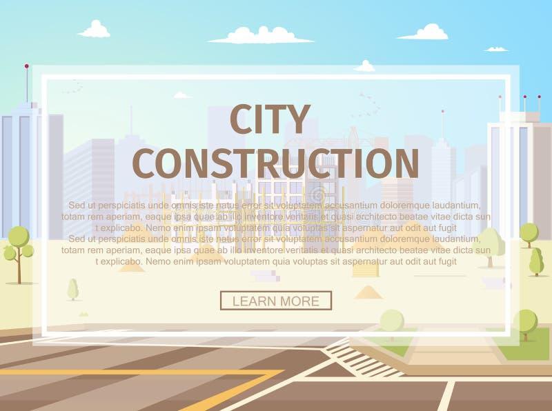 Web page liso do vetor do projeto urbano da infraestrutura ilustração stock