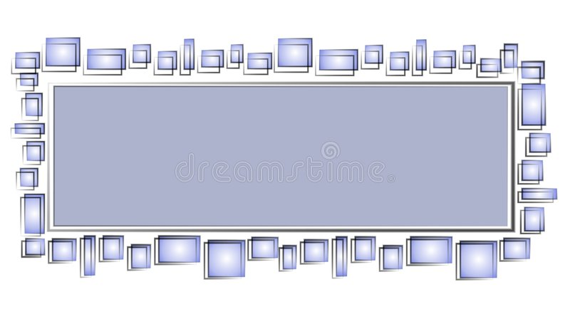 Web Page Logo Blue Squares royalty free illustration