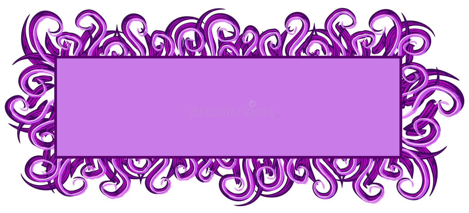 Web Page Logo Purple Swirls stock illustration