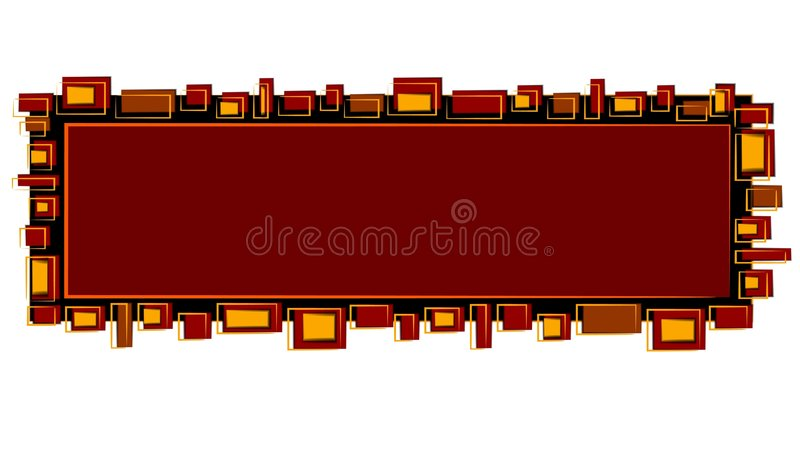 Web Page Logo Red Black Gold royalty free illustration
