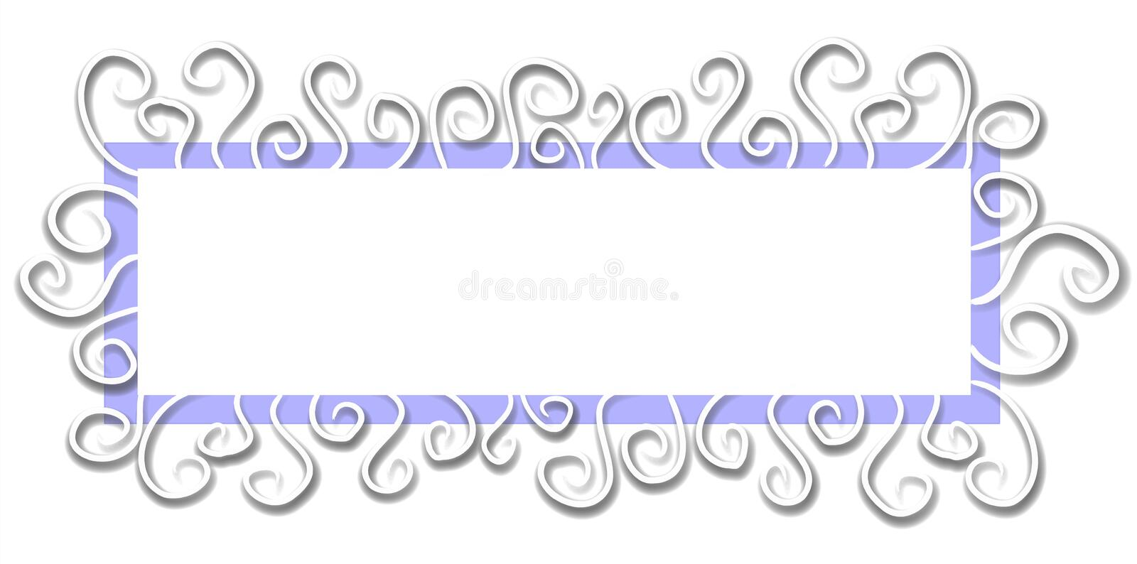Web Page Logo White Blue stock photo