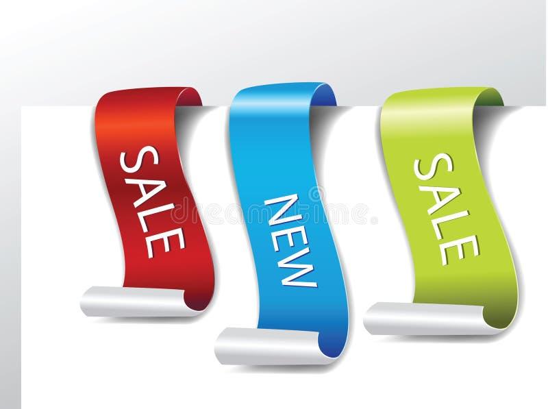Web page set Sticker Designs stock illustration