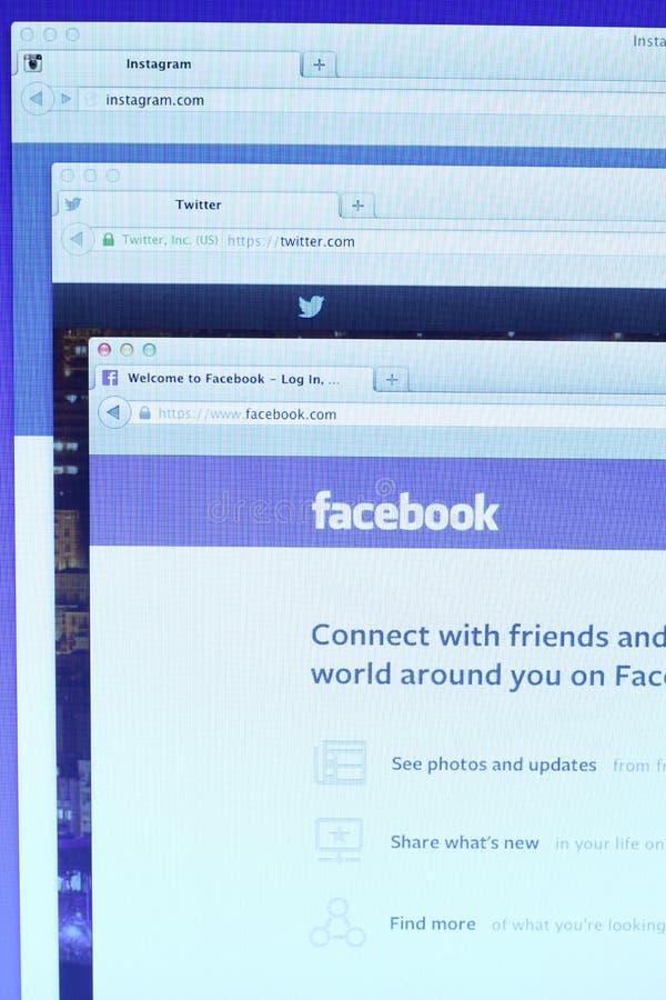 Web page social da rede dos meios fotos de stock royalty free