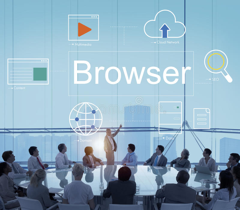 Web Page Webinar HTML Browser Concept royalty free stock image