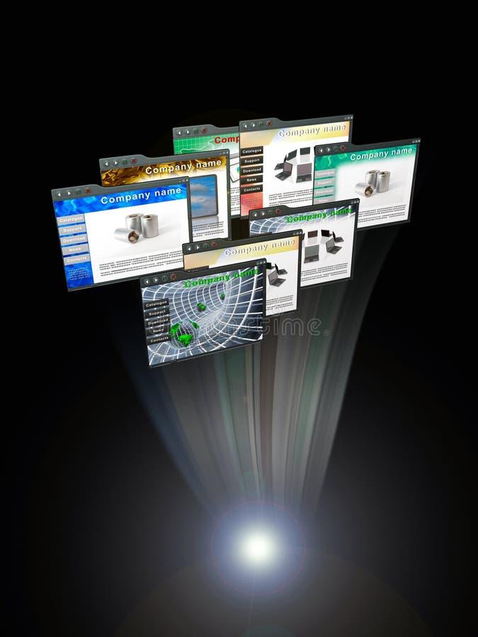 Web pages stock de ilustración
