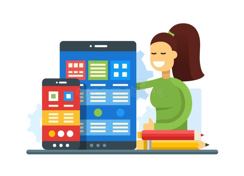 Web-pagina Optimalisering - de vlakke banner van de ontwerpwebsite vector illustratie