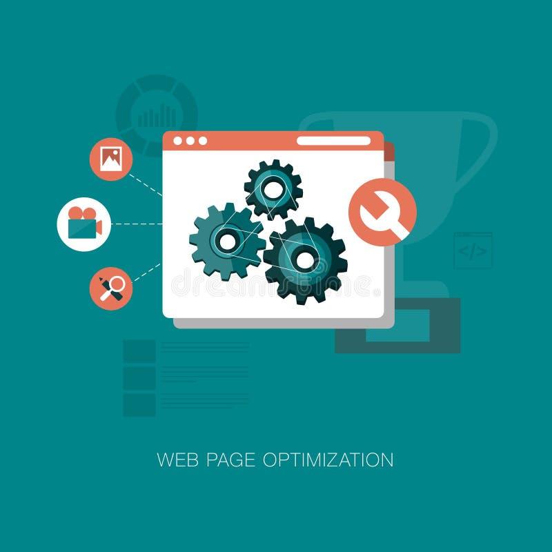Web-pagina optimaliseringsgrafiek vector illustratie