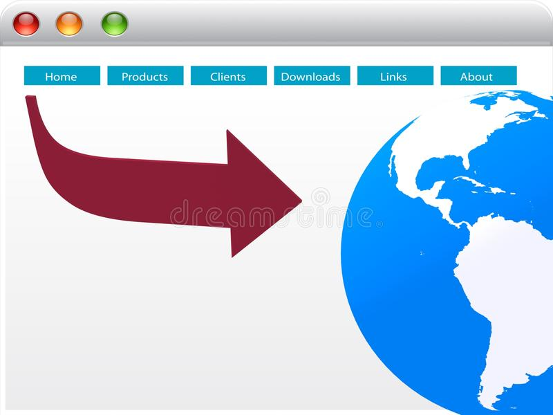 Web-pagina van de wereld ontwerp royalty-vrije illustratie