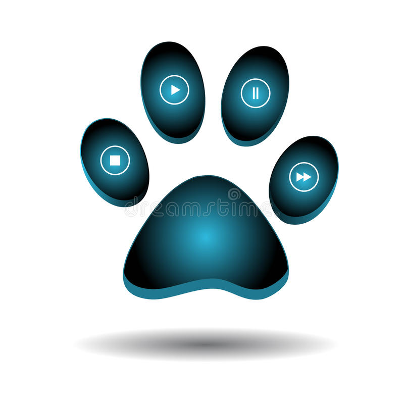 Download Web a paw stock vector. Image of abstract, design, background - 23917601