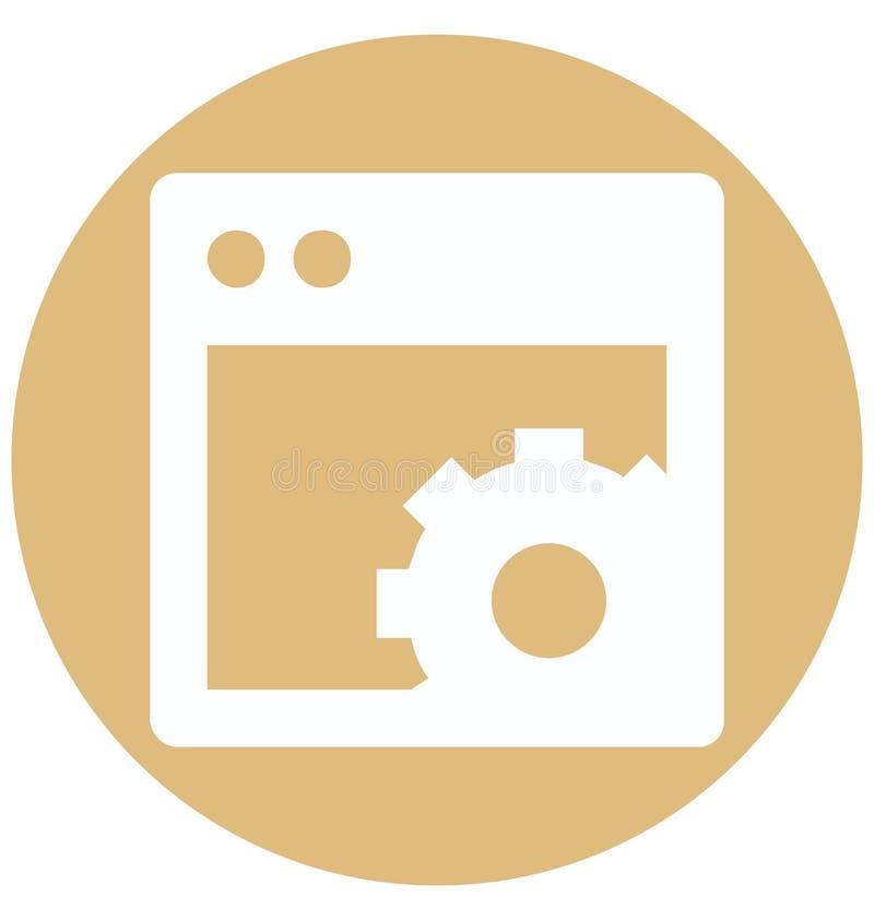 Web plaçant l'icône de vecteur de Glyph de deux couleurs d'isolement et Editable illustration libre de droits