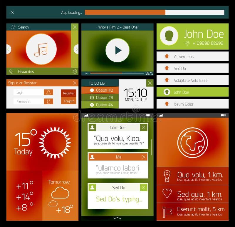 Download Web Plano De Ui Y Elemento Móvil Foto de archivo - Imagen de direcciones, progreso: 42438762