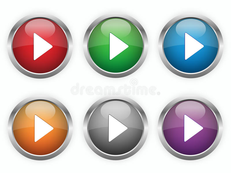 Download Web Play Buttons Stock Images - Image: 29728214