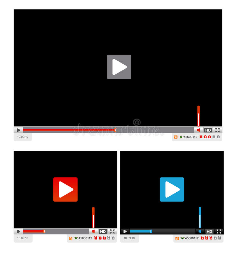 Web player interface template
