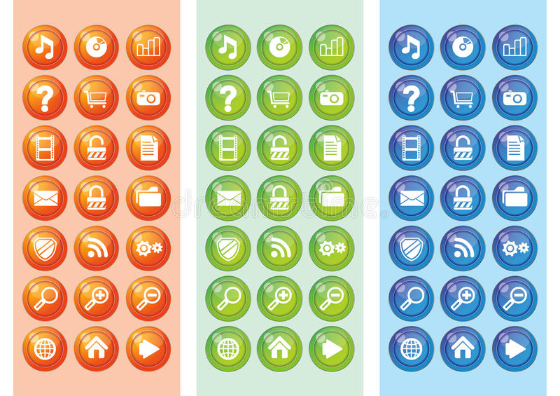 Web réglé 2.0 de graphisme illustration de vecteur