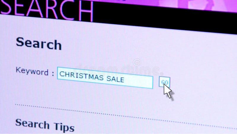 Web-Recherche-Weihnachtsverkauf stockfotografie