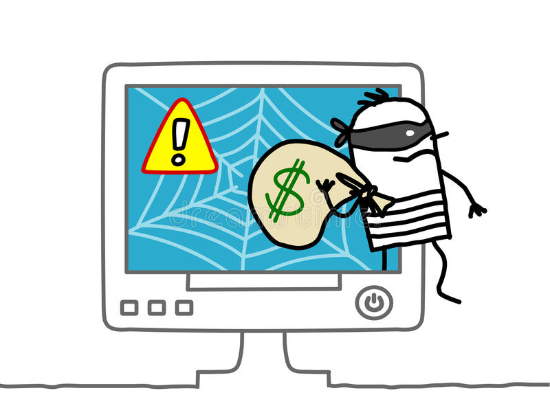 Download Web robber stock vector. Image of crime, computer, attention - 14857167