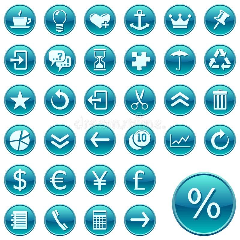 Web rond de 2 graphismes de boutons illustration stock