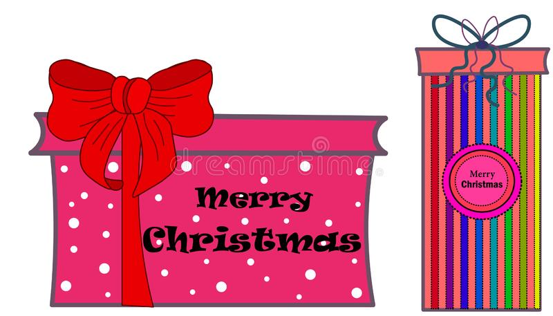 web Satz bunte Geschenkboxsymbole lizenzfreie abbildung