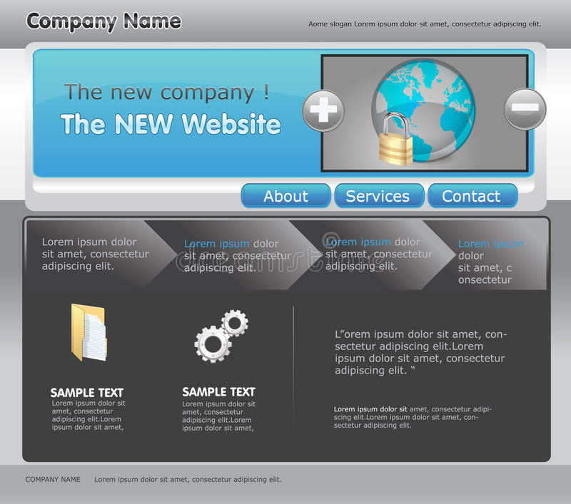 Web-Schablone stock abbildung