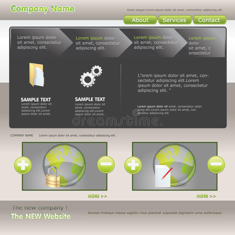 Web-Schablone vektor abbildung