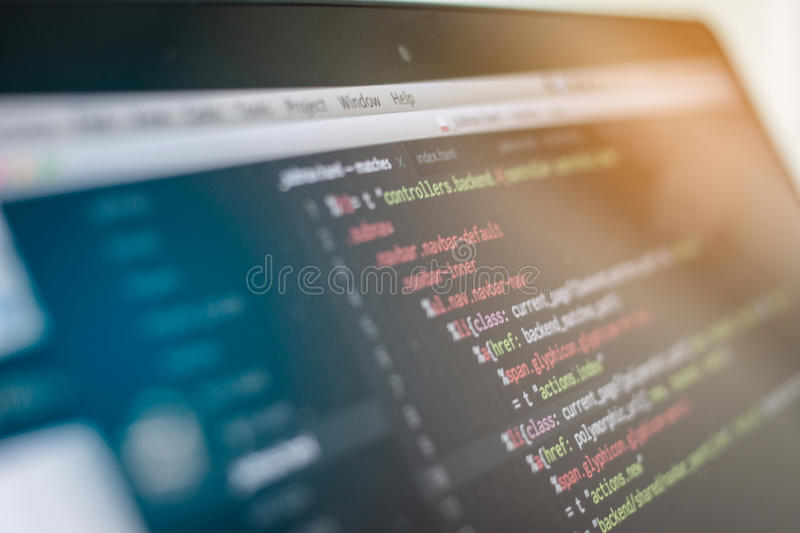 Web script royalty free stock images