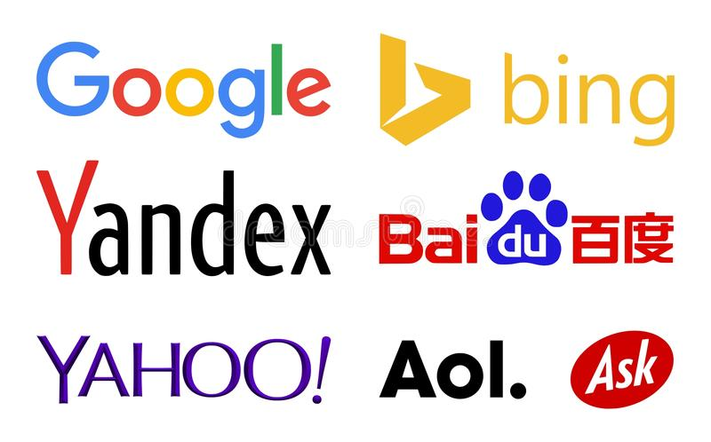 Web Search Engines Logos Editorial Photography
